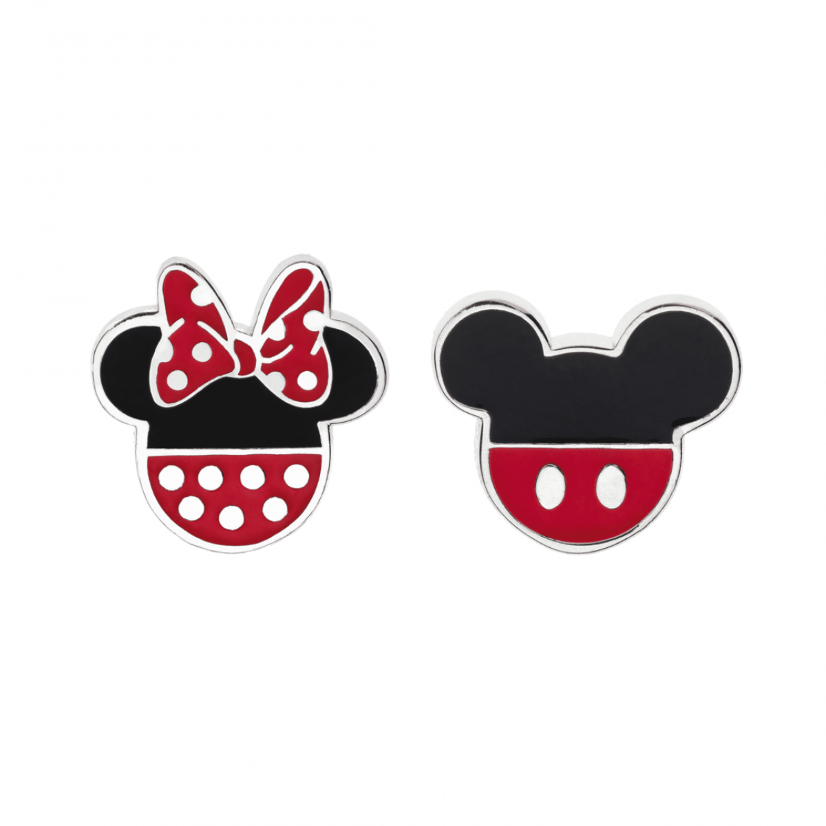 Disney øreringe - Minnie & Mickey sølv - 10333999