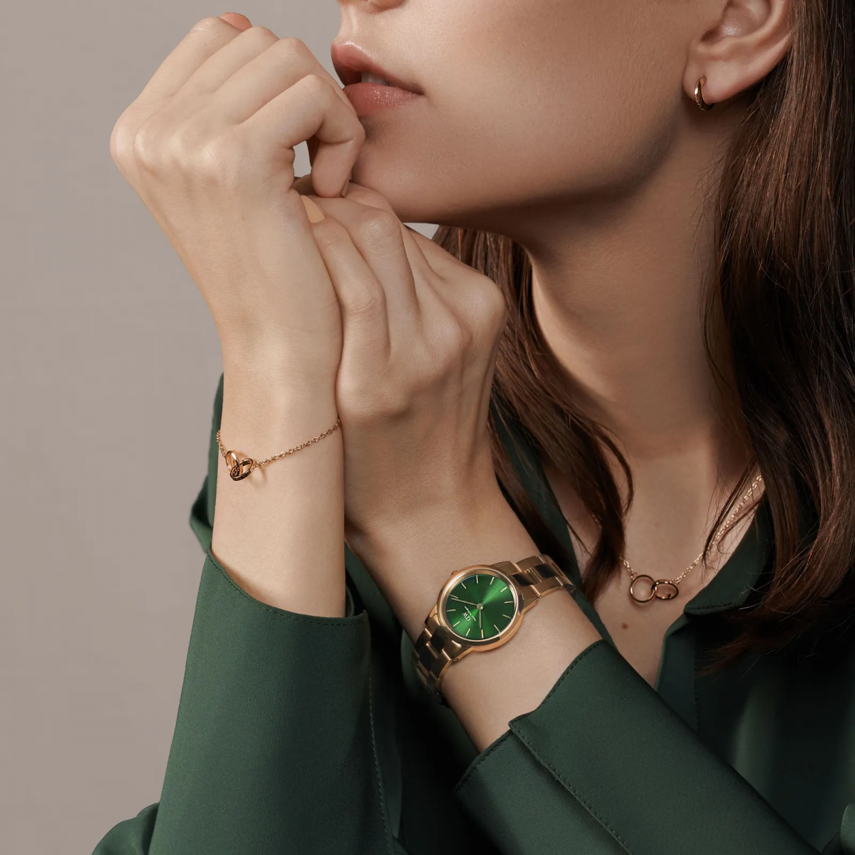 Iconic link emerald pearl 28 mm