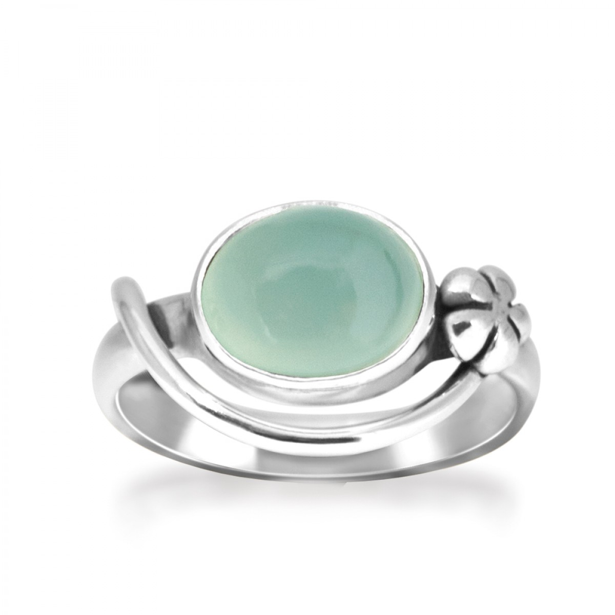 Rabinovich Blurred Blue Ring sølv med chalcedon-3