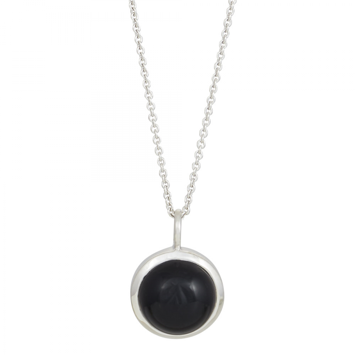 Nordahl Jewellery SWEETS Halskæde - sølv med sort onyx 11 mm