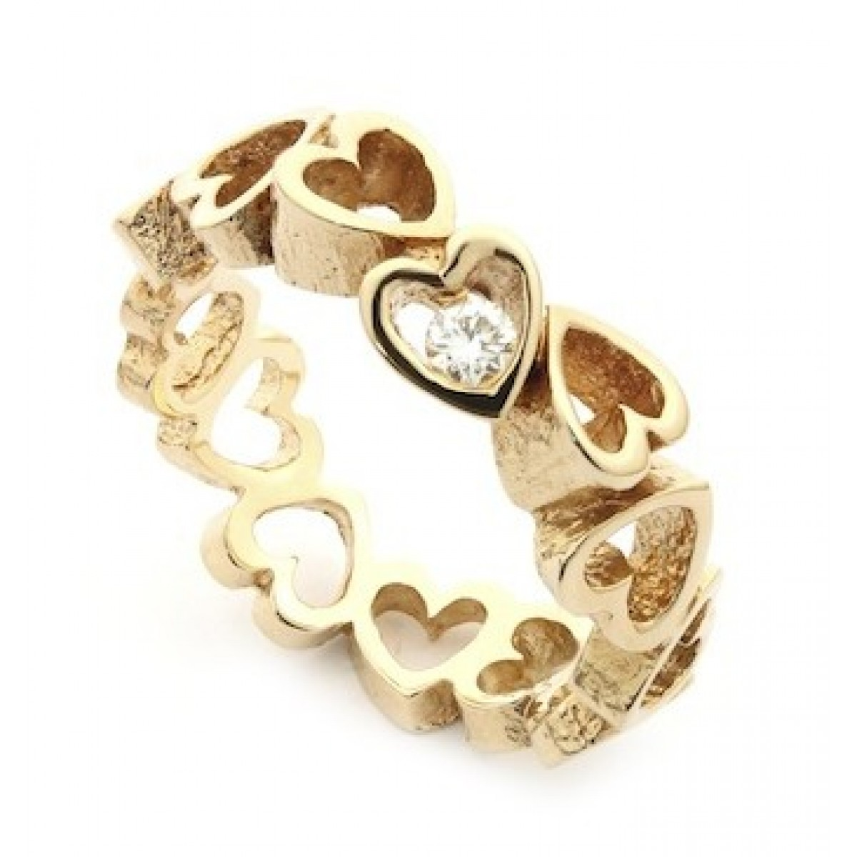 Per Borup OPEN YOUR HEART ring 884RX 14 kt guld-3