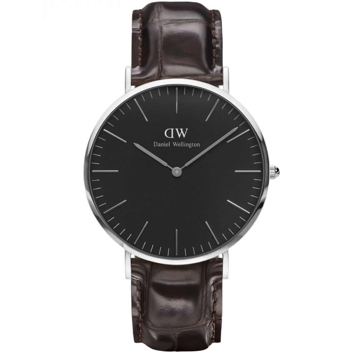 Daniel Wellington CLASSIC BLACK 36 and 40 mm York Silver ur-3