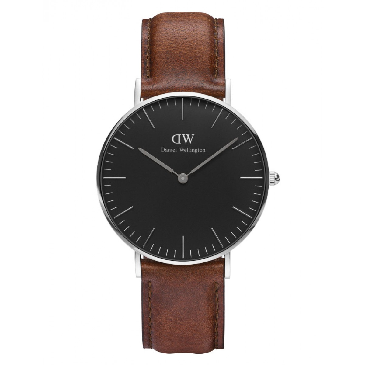 Daniel Wellington CLASSIC BLACK 36 and 40 mm St. Mawes Silver ur-30