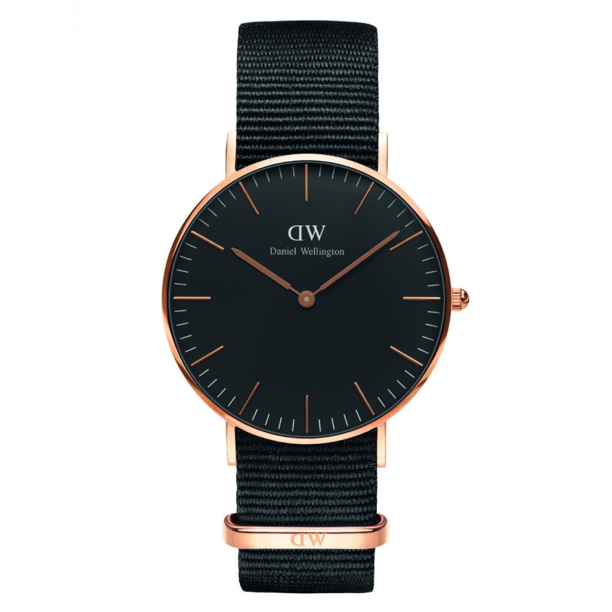 Daniel Wellington CLASSIC BLACK 36 and 40 mm Cornwall Rose ur-30