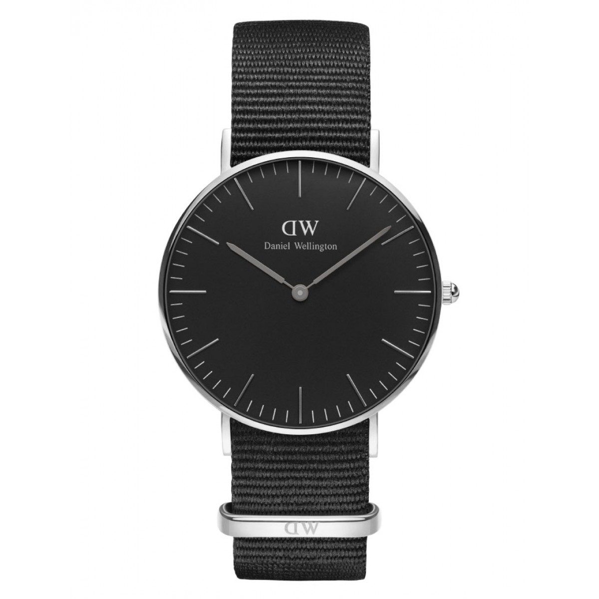 Daniel Wellington CLASSIC BLACK 36 & 40 mm Cornwall Silver ur