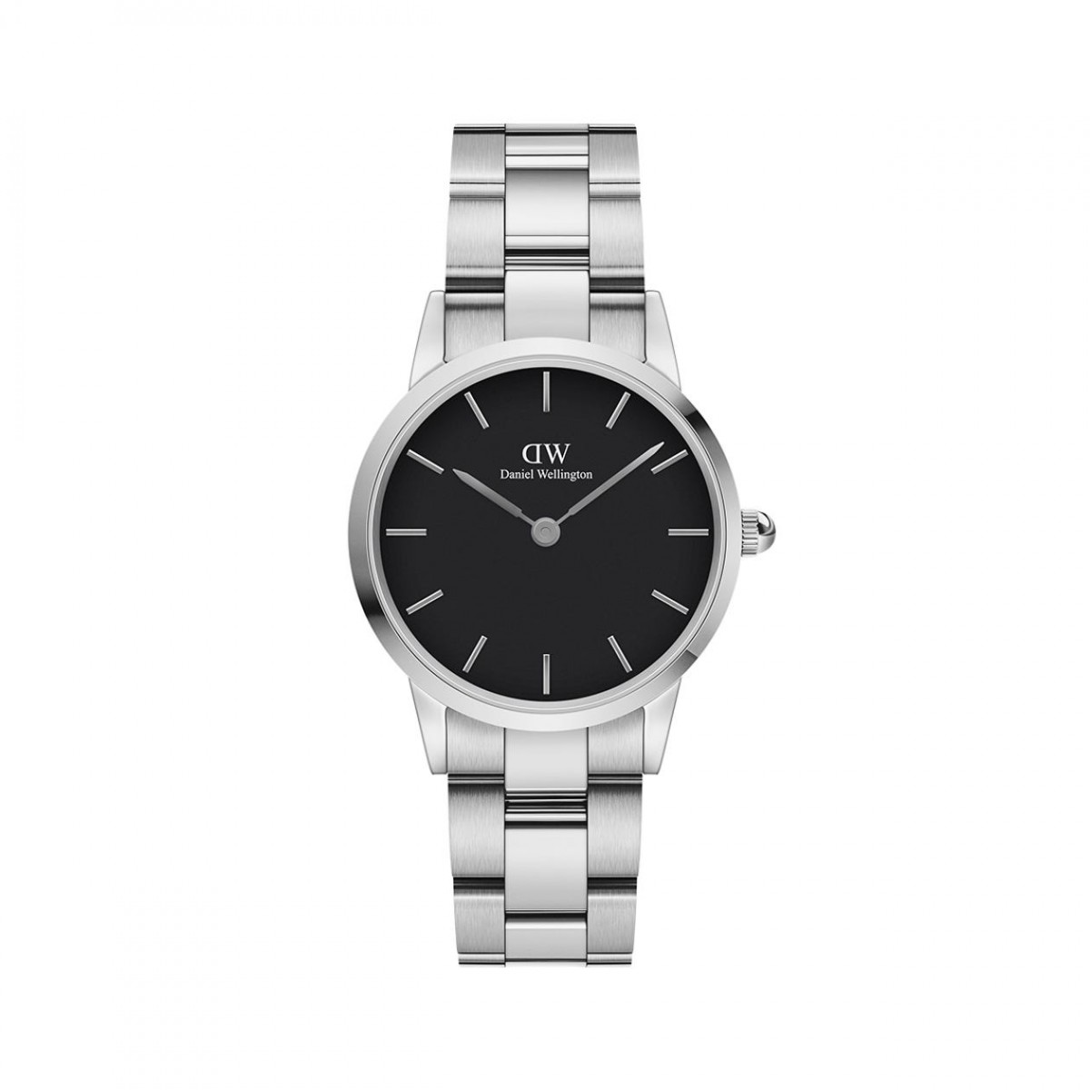 Daniel Wellington ICONIC LINK stål 28 mm ur - sort skive