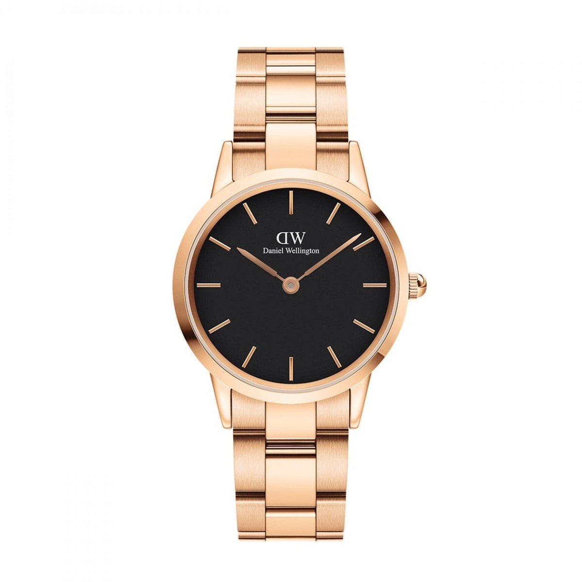 Daniel Wellington ICONIC LINK rose 32 mm ur - sort skive