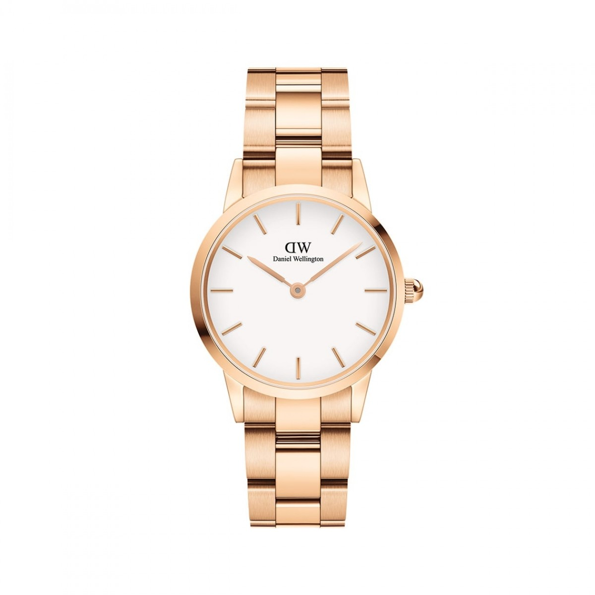 Daniel Wellington ICONIC LINK rose 28 mm ur - hvid skive