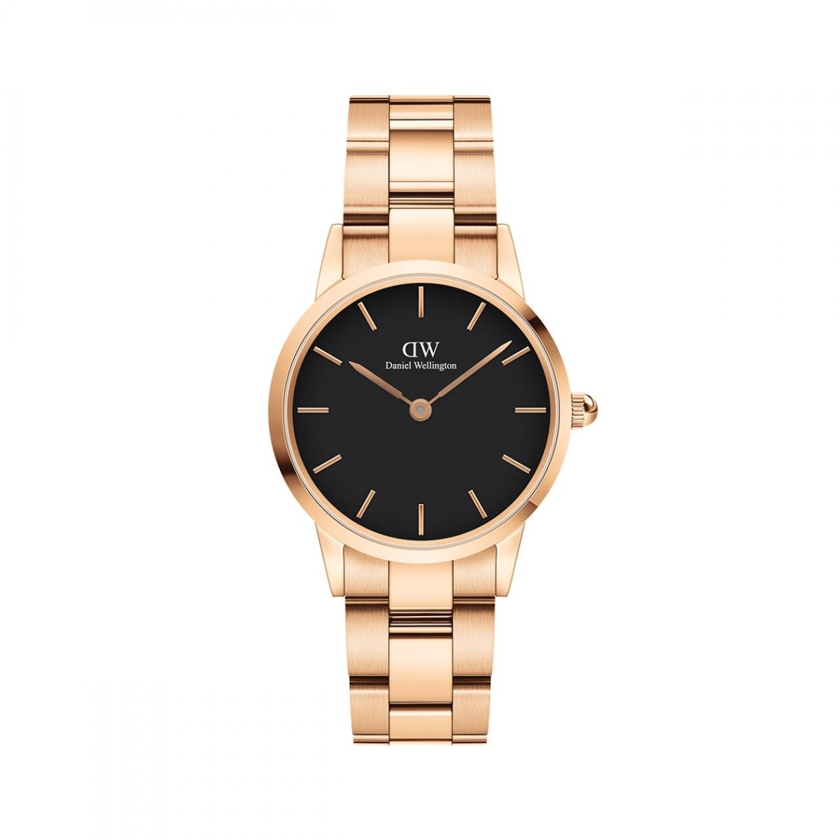 Daniel Wellington ICONIC LINK rose 28 mm ur - sort skive