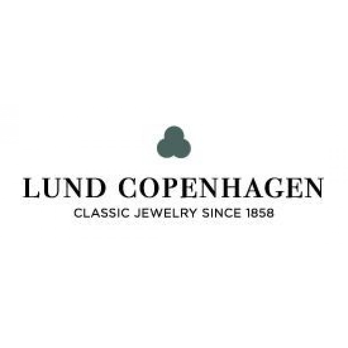 Lund Copenhagen marguerit broche 43 mm sølv/sort 904043-S-3