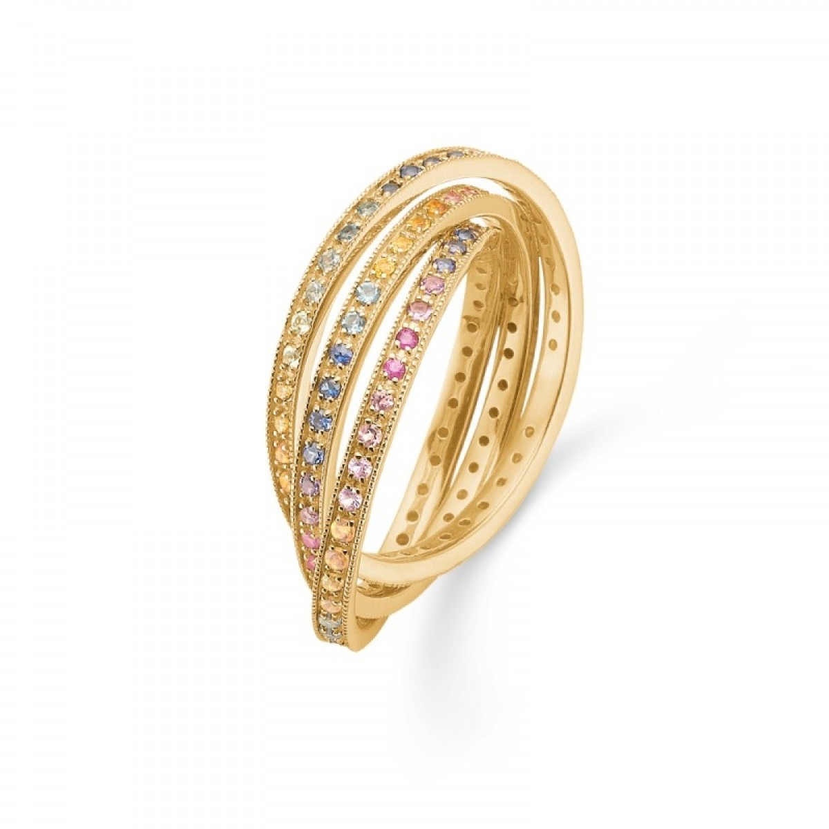Mads Z POETRY Rainbow luxury ring i 14 kt guld - 1544068
