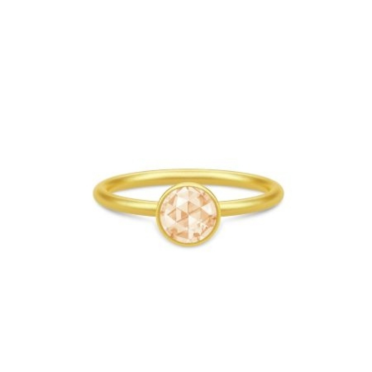 Julie Sandlau LILLE COCKTAIL ring forgyldt RI256GDCHCZ - champagne