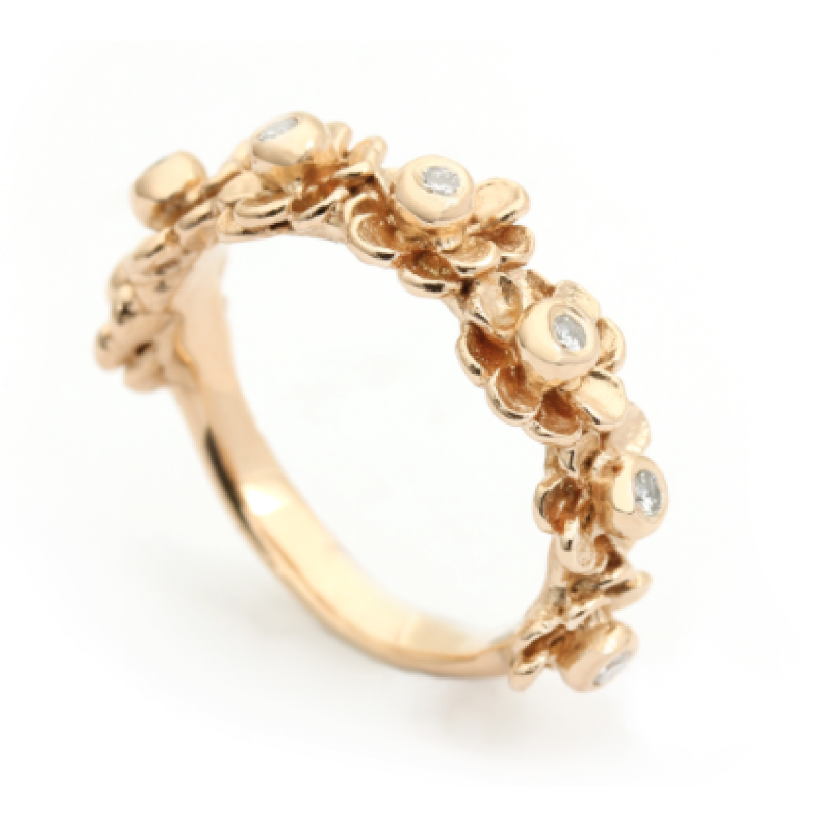 Per Borup HAPPY FLOWER ring 970RY 14 karat guld-3