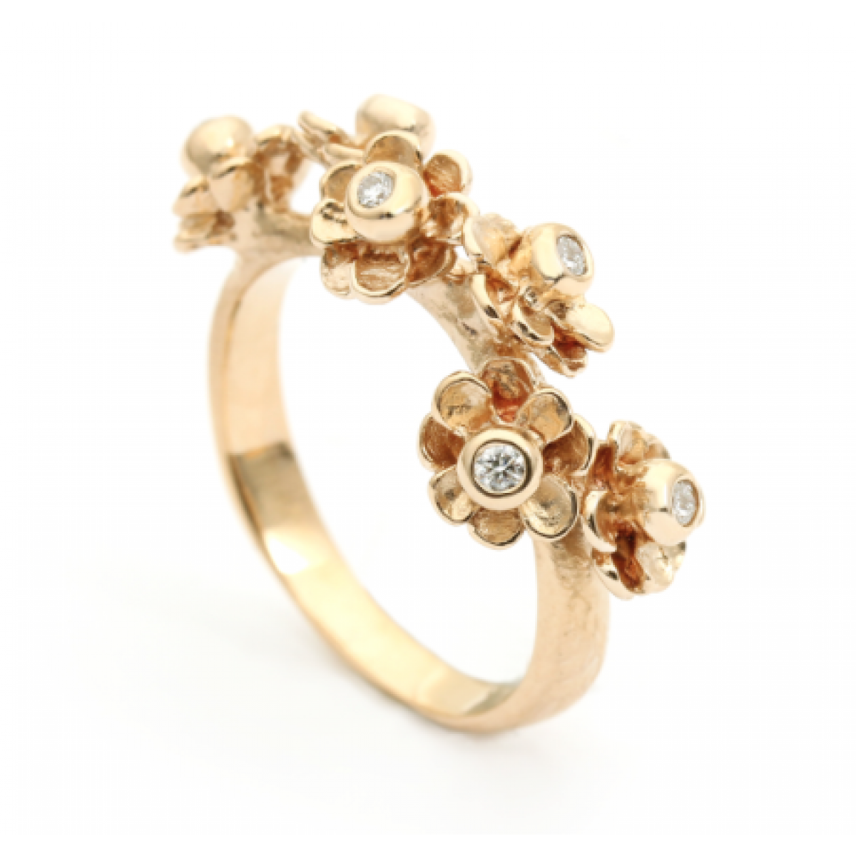 Per Borup HAPPY FLOWER ring 972RY 14 karat guld-3
