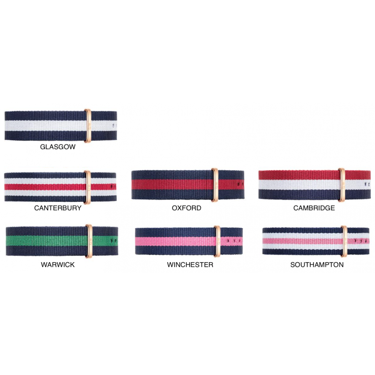 Løse NATO remme Daniel Wellington til 36 and 40 mm ure-30