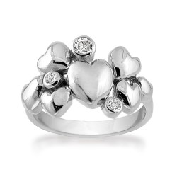 Rabinovich Heart Alliance Ring sølv-20