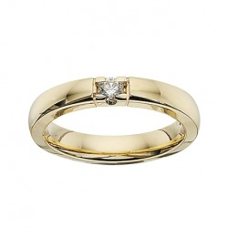 GRACE alliancering 14 karat guld med 1 x 0,11 ct W/SI brillant-20