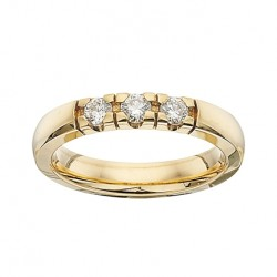 GRACE alliancering 14 karat guld med 3 x 0,11 ct W/SI brillanter-20