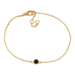 Nordahl Jewellery SWEETS Armbånd forgyldt med sort onyx-20