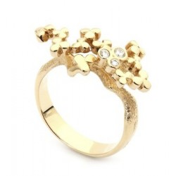 Per Borup CLOVER ring 873R 14 kt guld 0,06 ct brillanter-20