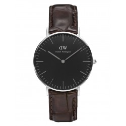 Daniel Wellington CLASSIC BLACK 36 and 40 mm York Silver ur-20