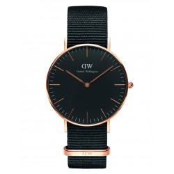 Daniel Wellington CLASSIC BLACK 36 and 40 mm Cornwall Rose ur-20