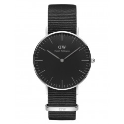 Daniel Wellington CLASSIC BLACK 36 and 40 mm Cornwall Silver ur-20
