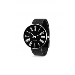 Arne Jacobsen armbåndsur ROMAN 40 and 46 MM sort mesh rem/sort skive-20