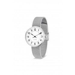 Arne Jacobsen armbåndsur STATION 34 and 40 MM STÅL mesh rem-20