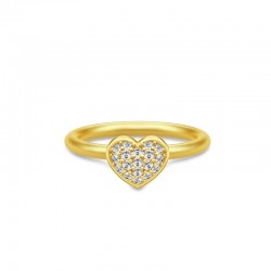 pure heart ring forgyldt