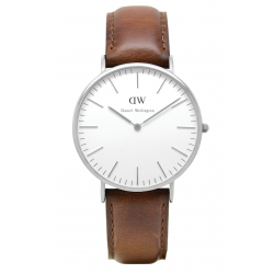 Daniel Wellington CLASSIC 36 and 40 mm St. Mawes Silver ur-20