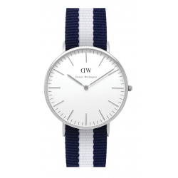 Daniel Wellington CLASSIC 36 and 40 mm Glasgow Silver ur-20