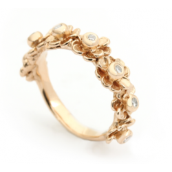 Per Borup HAPPY FLOWER ring 970RY 14 karat guld-20