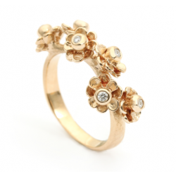 Per Borup HAPPY FLOWER ring 972RY 14 karat guld-20
