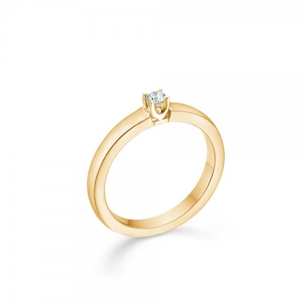 crown alliance ring 0,09 ct