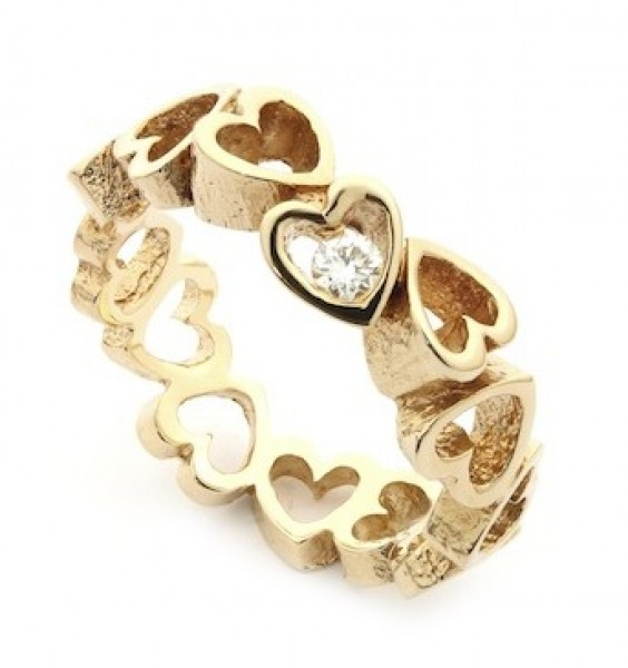 Per Borup OPEN YOUR HEART ring 884RX 14 kt guld-20