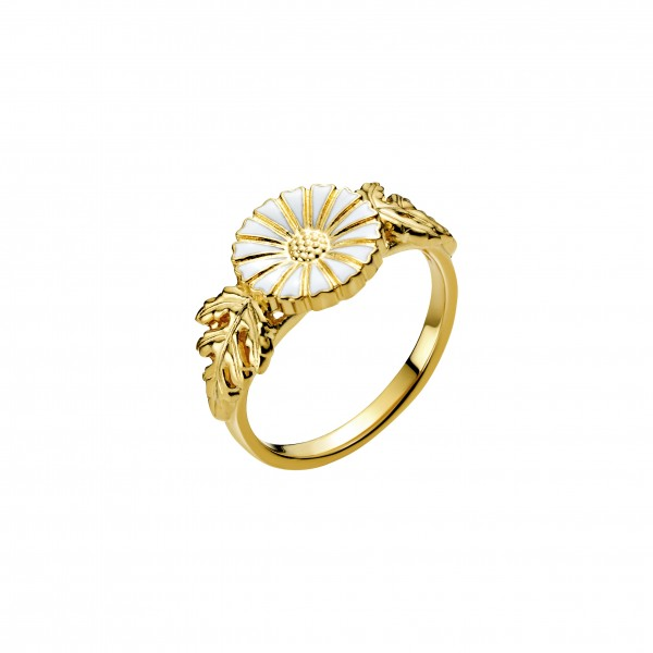 Marguerit ring med blade
