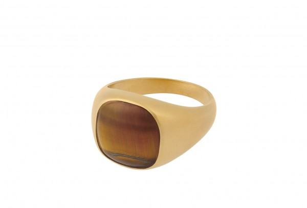 tiger eye ring forgyldt