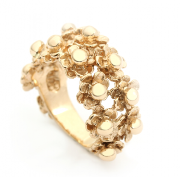 Per Borup HAPPY FLOWER ring 973R 14 karat guld-20