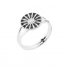 Lund Copenhagen marguerit ring 11 mm sølv/sort 907011-S-00